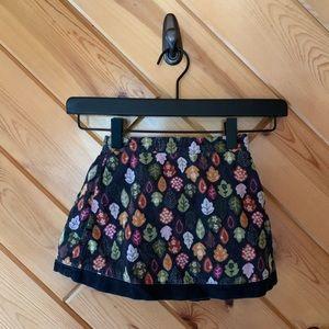 Gymboree Corduroy Leaf Printed Skirt 4 Girl